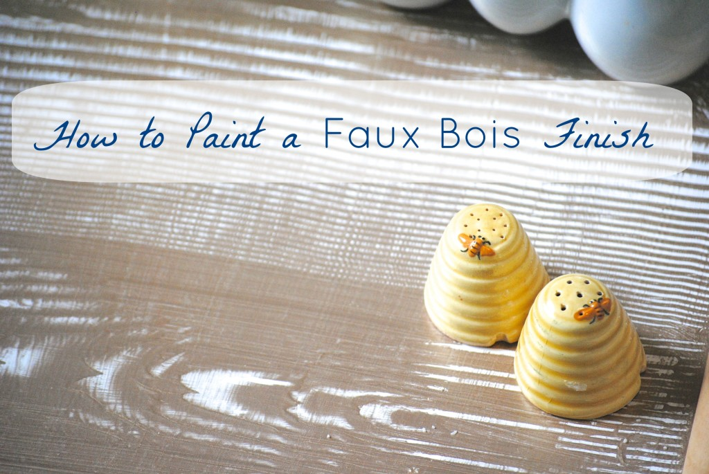 How to Paint a Faux Bois Finish