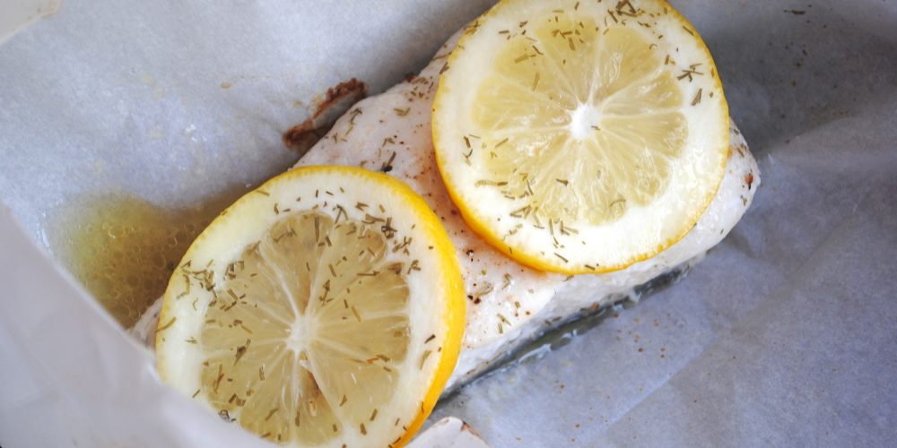 halibut parcels with lemon & dill recipe