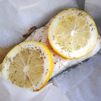 Halibut Parcels with Lemon & Dill