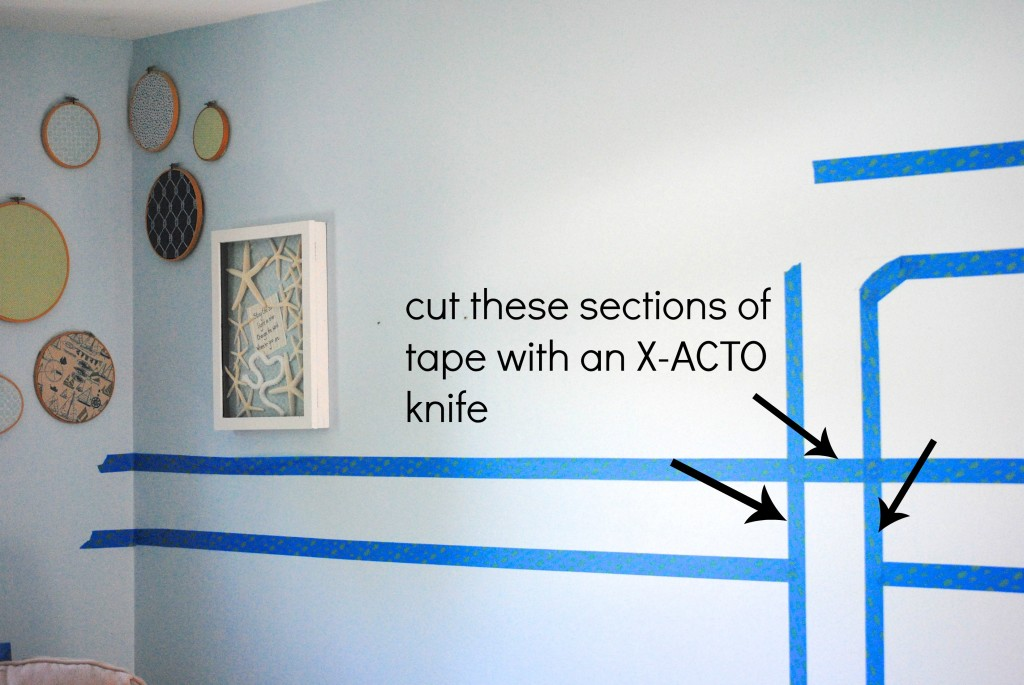 painting stripes on wall