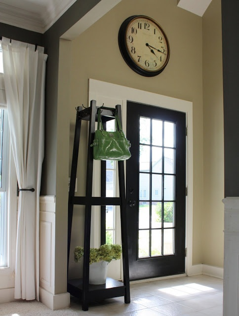 Black Front door with glass