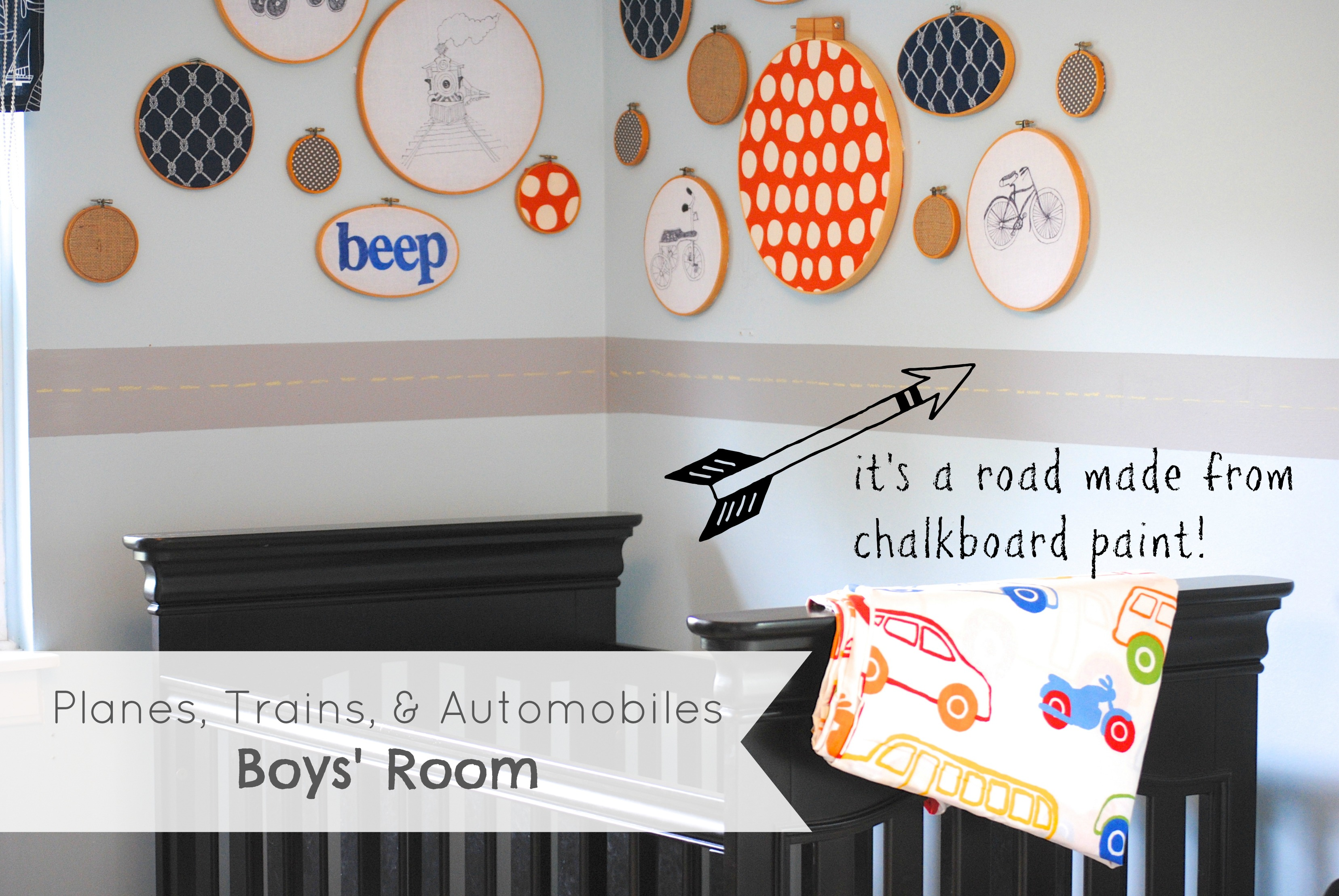 Chalkboard Paint Road {Boys Room Ideas}