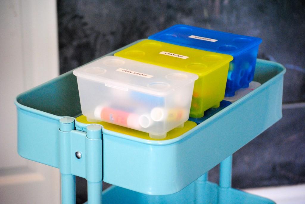 Kids Art Cart {IKEA RASKOG cart}