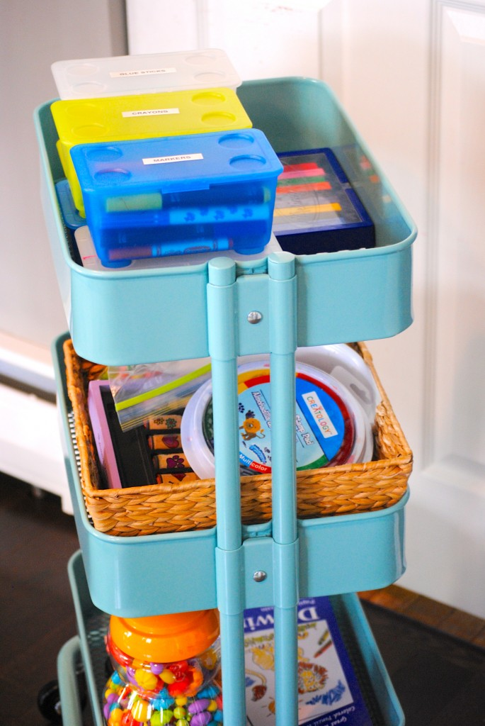 Kids Art Cart {IKEA RASKOG cart}