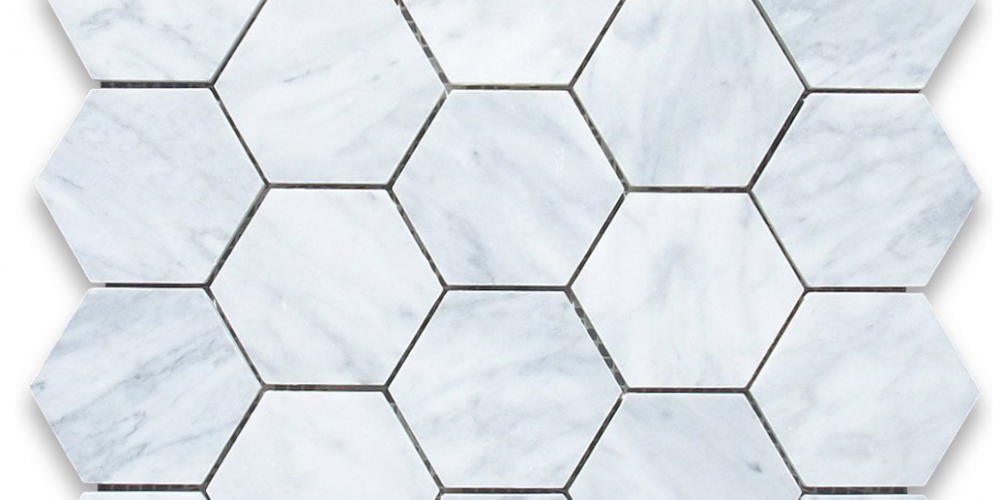 hexagon marble tiles {dream kitchen}