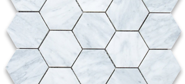 hexagon marble tiles {dream kitchen}