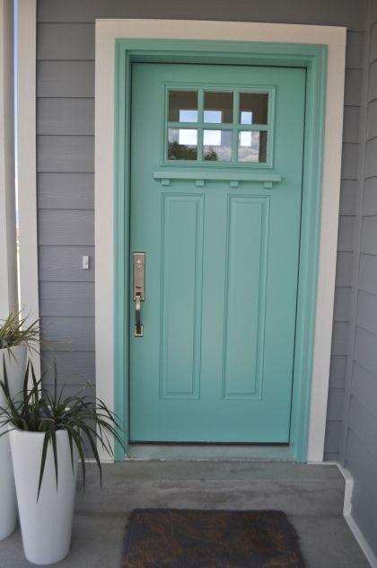Tiffany blue front door