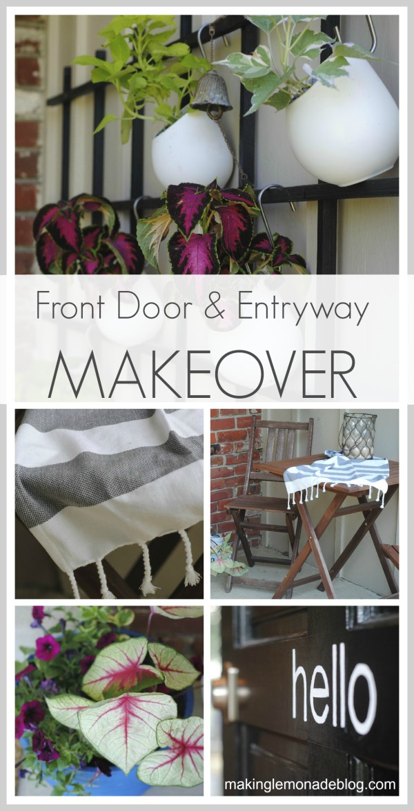 Front Door and Entryway Curb Appeal Makeover