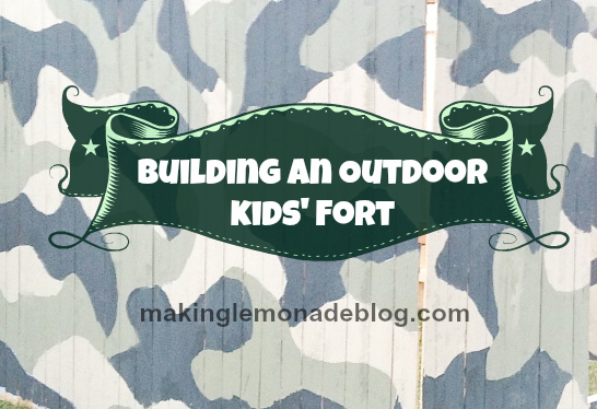 outdoor activity DIY kids fort