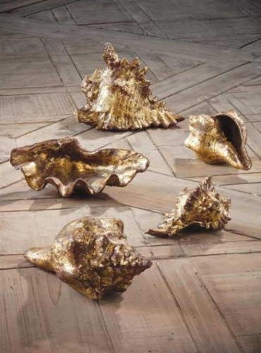 Gold leaf shells