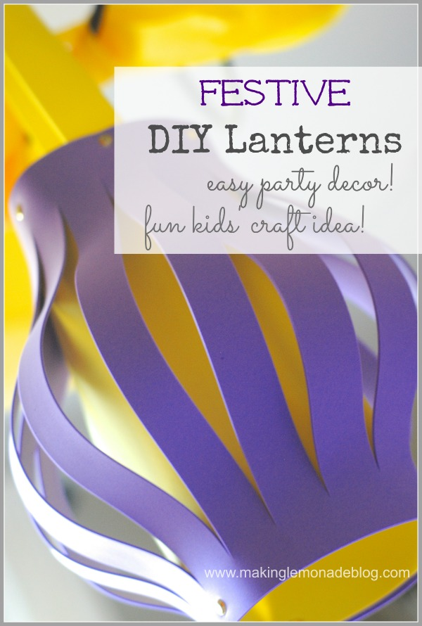 Festive Foam Lantern {Kids Craft Idea and Party Decor} #summerofjoann