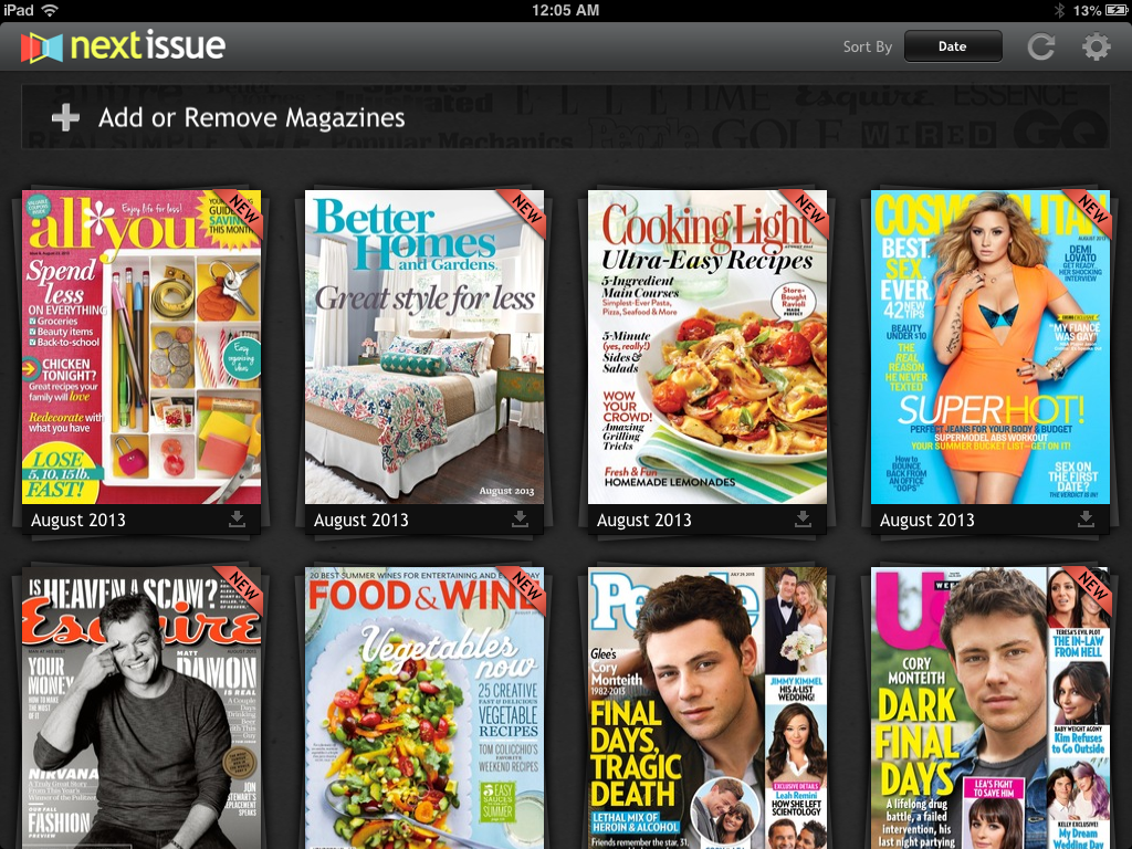 Magazine Organization Idea {ipad Magazine Subscriptions}