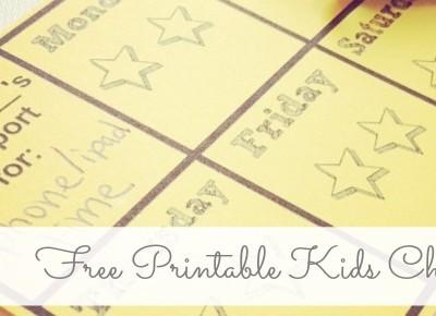 HELP! {Free Printable Kids' Chart}