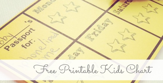 free printable kids charts (punch cards) for positive discipline