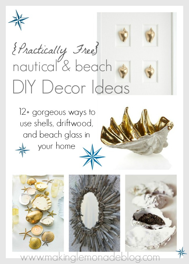 Practically Free Nautical & Beach DIY Decor Ideas