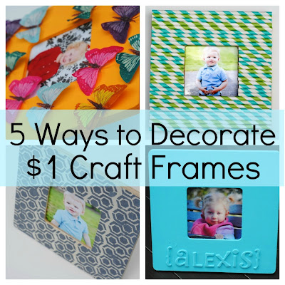 Kids Wooden Craft Frames from Old Board Games