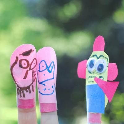 Kids Craft Week: Easy Finger Puppets