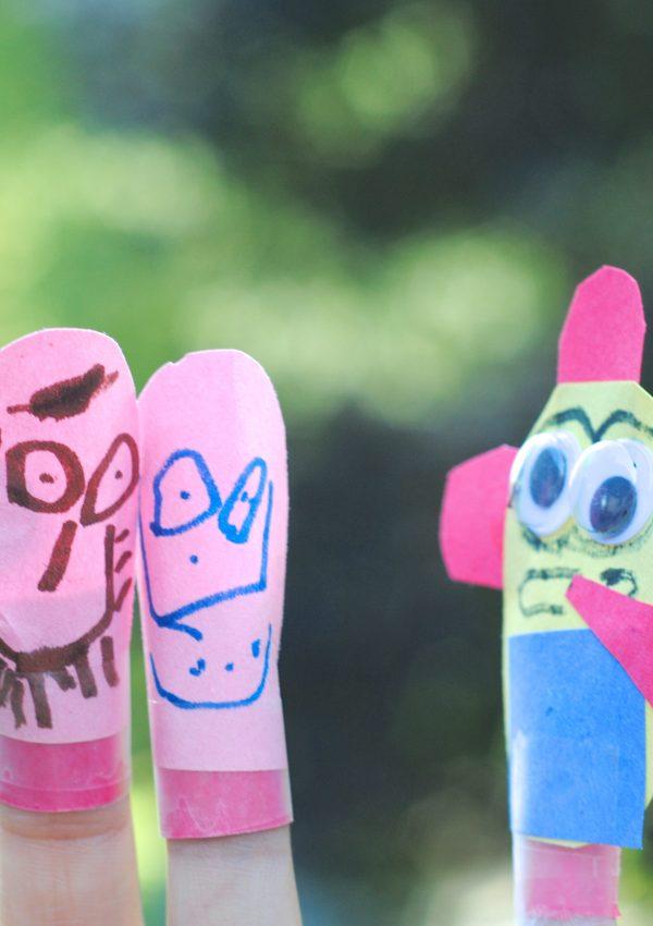 Easy Kids Craft Idea: Minion Finger Puppets
