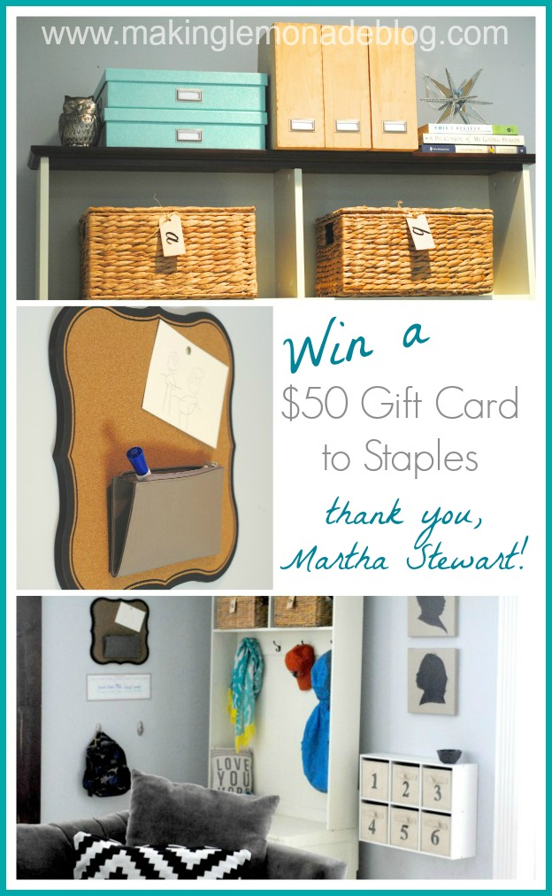 $50 Gift Card Giveaway and Family Organization Ideas