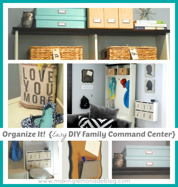 Back to School Organization Ideas: DIY Mudroom & Family Command Center