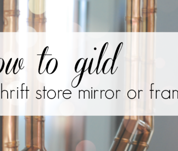 how to gild a mirror or frame