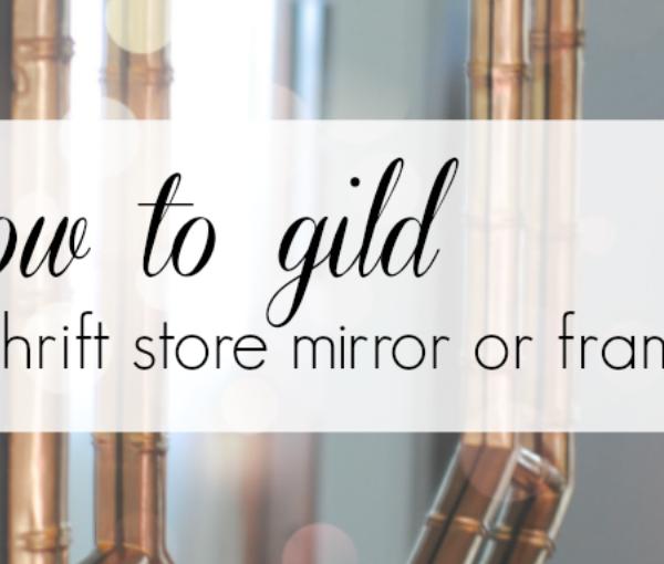 how to gild a mirror or frame
