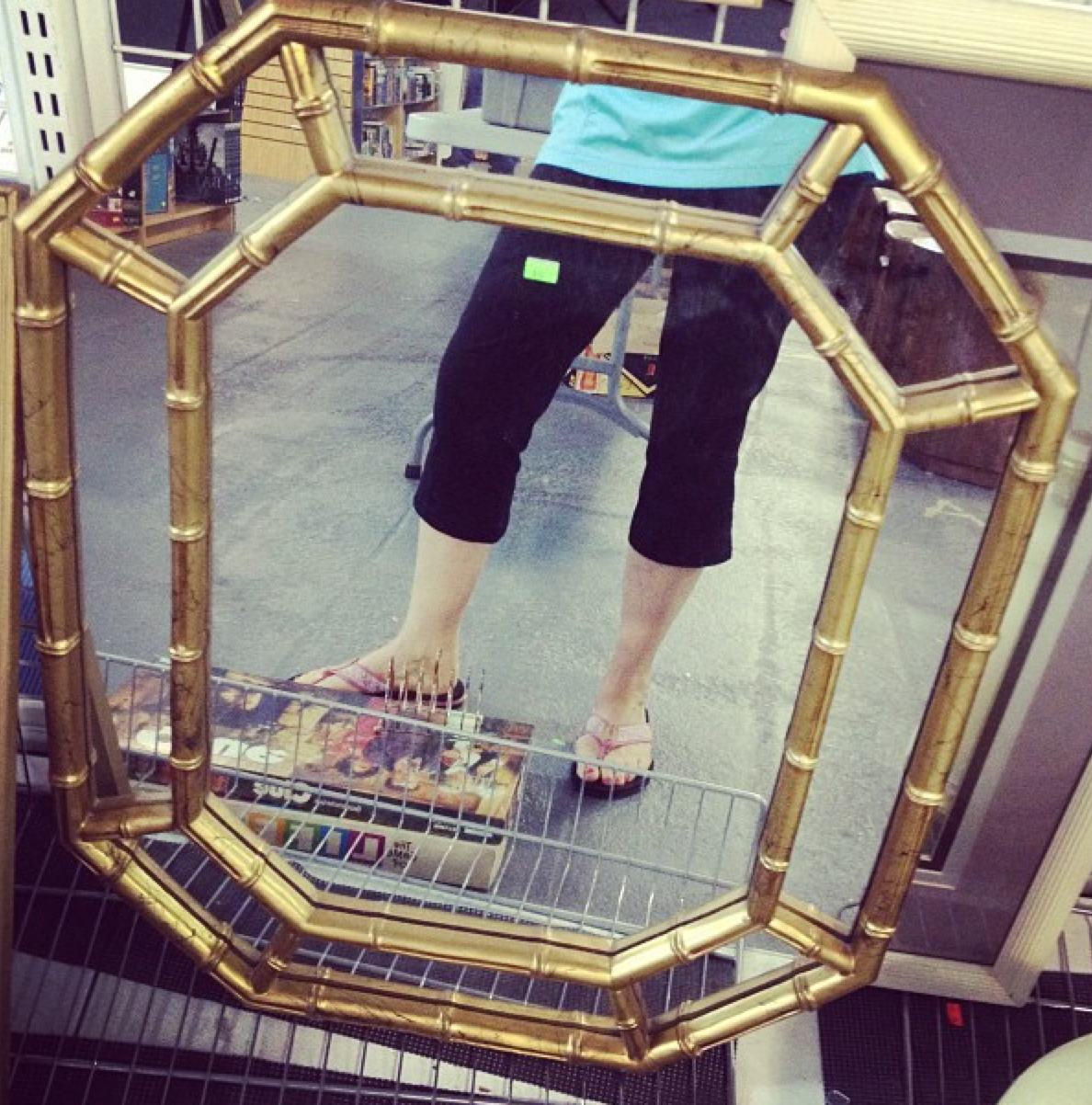 How to Gild a Mirror {Thrift Store Mirror Makeover}