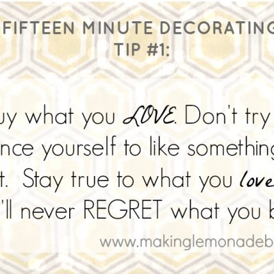 15 Minute Decorating: Know Your Personal Style