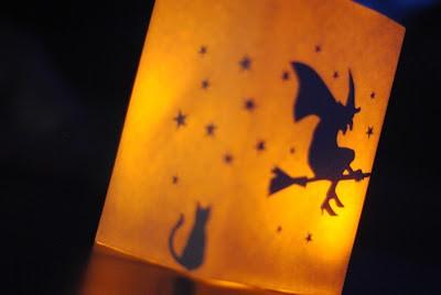 DIY Halloween Decor: Glowing Luminaries