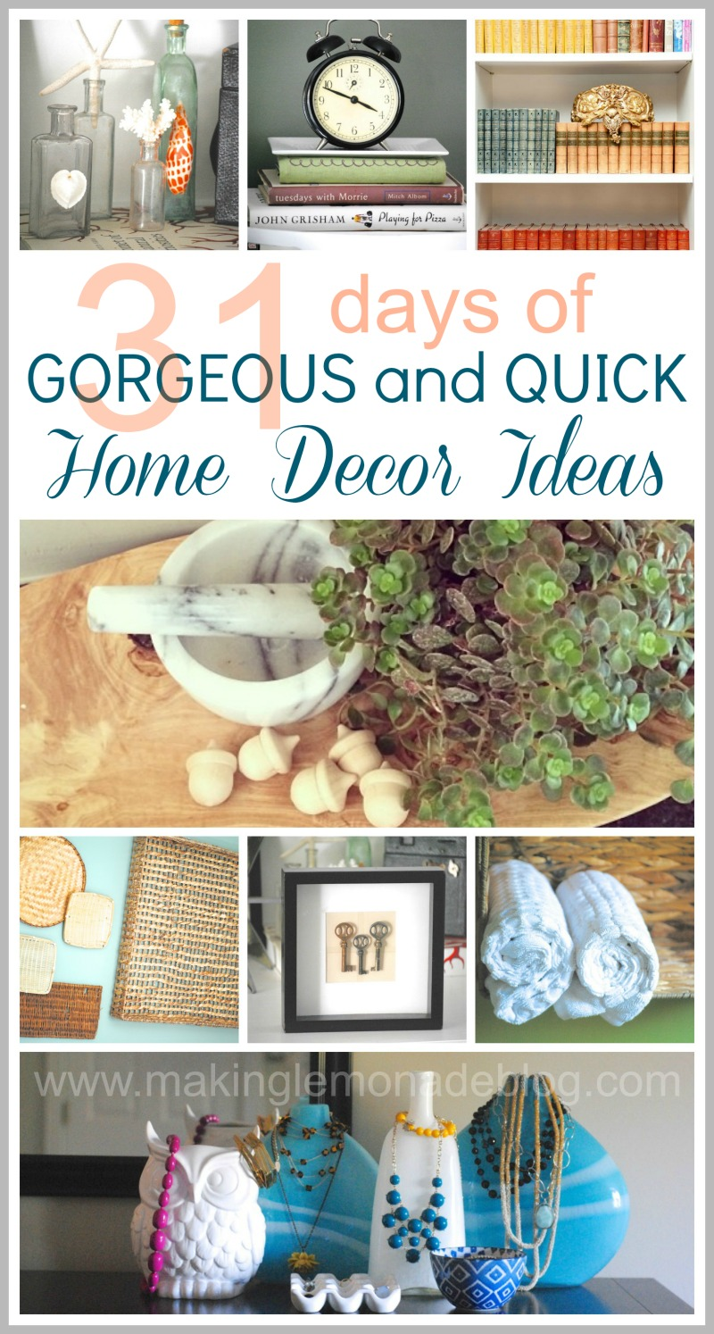 31 easy decorating ideas wrapup and link party making