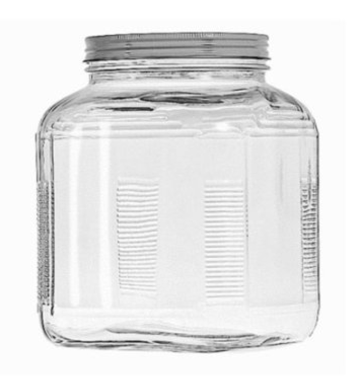 easy decorating idea: cracker jar with a favorite collection