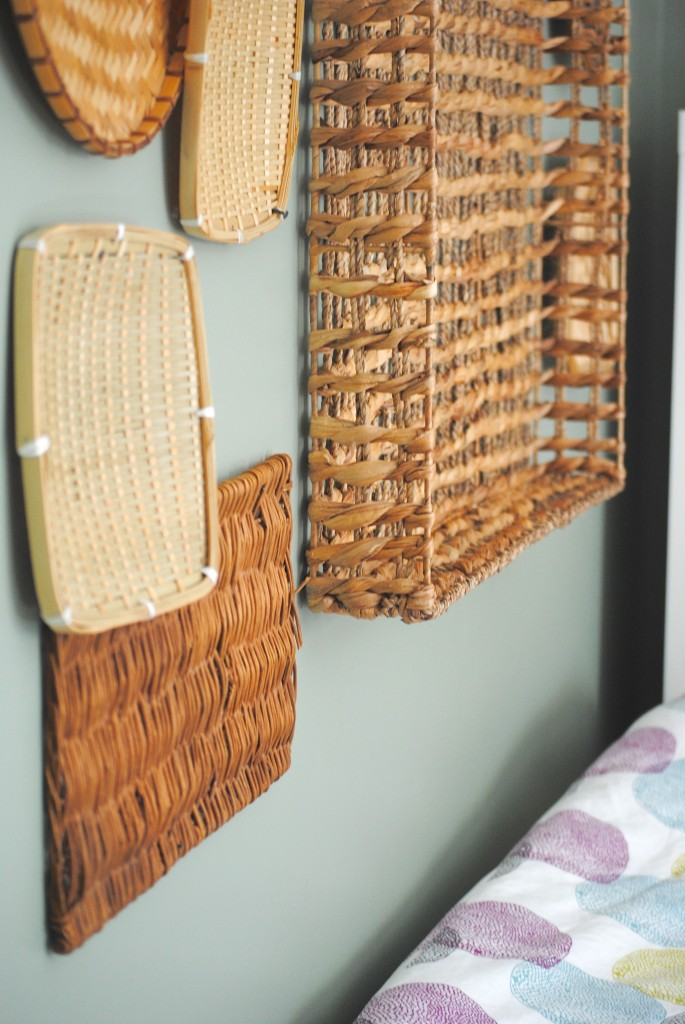 How to Hang a Basket Wall {31 Days of Easy Decor Ideas}