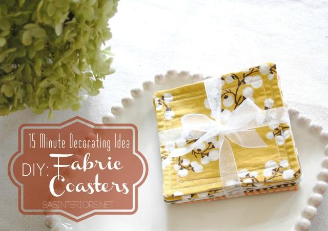 Handmade Coasters from SAS Interiors (Easy Gift Idea)