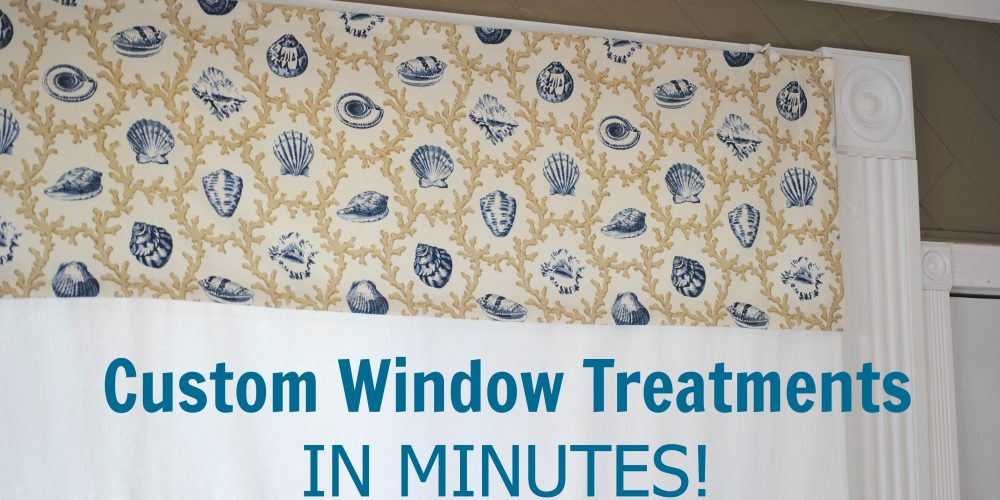 Easy DIY custom window valances