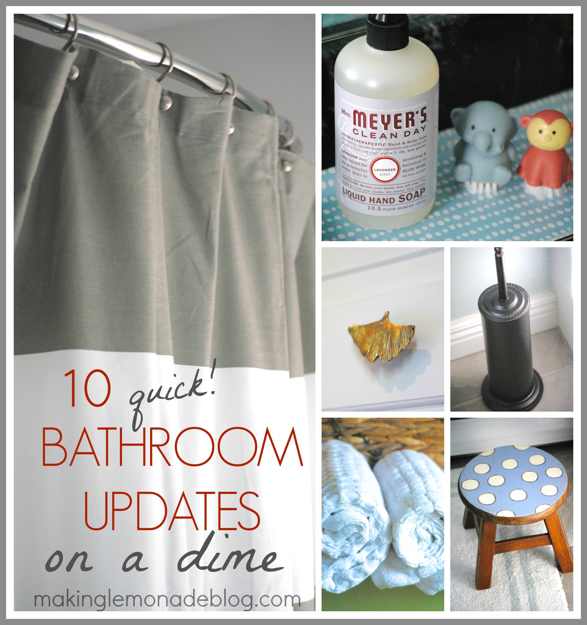 Easy Bathroom Updates on a Dime!