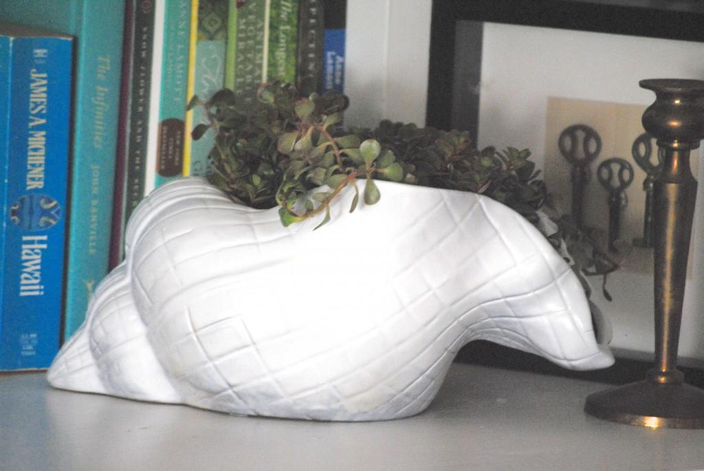 How to Gild {Easy Gold Beach Decor Idea} #15minutedecorating via www.makinglemonadeblog.com