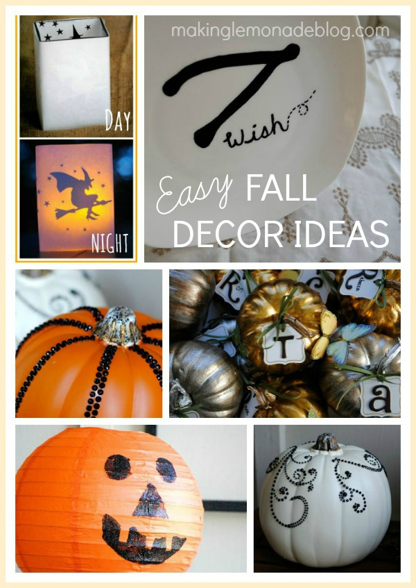 Easy Fall and Halloween Ideas {31 Days of 15 Minute Decorating}