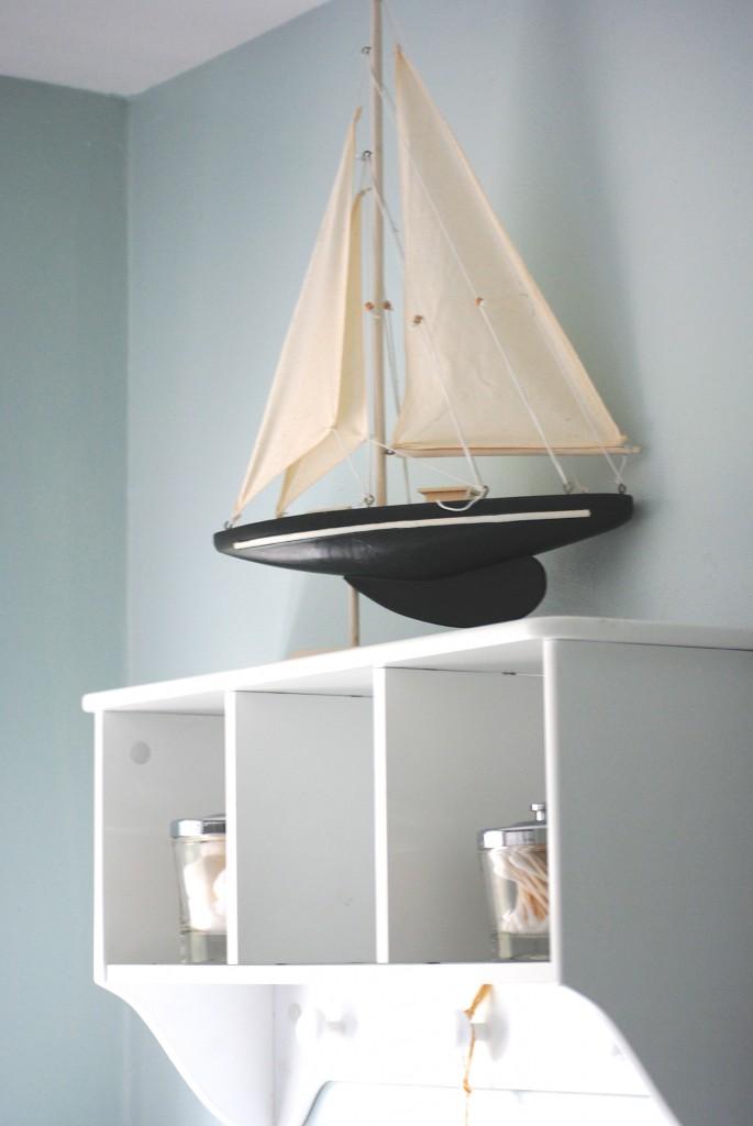 Hang a shelf for extra storage