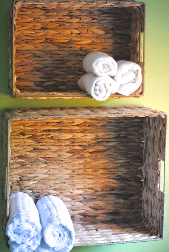 Use baskets for extra storage
