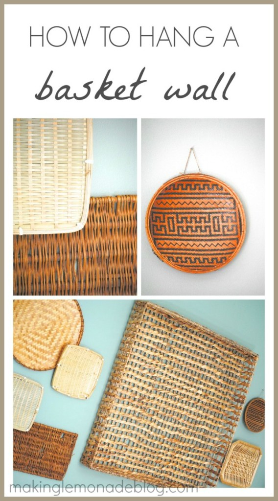 How to hang a basket wall 15 min decor day 10 making for What to hang on walls