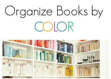 Organize Books by Color {15 Minute Decorating}