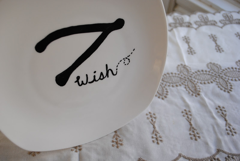 DIY Painted Wishbone Plate