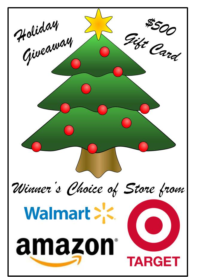 HUGE $500 Gift Card Giveaway