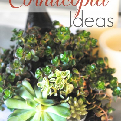 Cornucopias, Updated {Thanksgiving Decor Ideas}