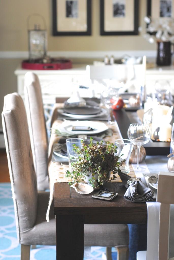 Modern Mixed Metallic Thanksgiving Tablescape Making Lemonade