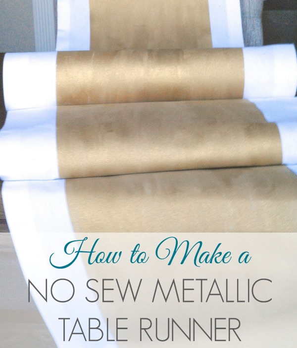 How To Make A No Sew Metallic Table Runner