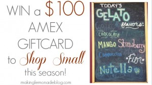 Small Business Saturday + $100 Giveaway!