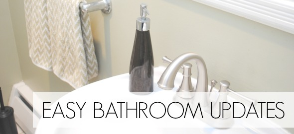 Easy Bathroom Updates: Installing a New Moen Faucet www.makinglemonadeblog.com