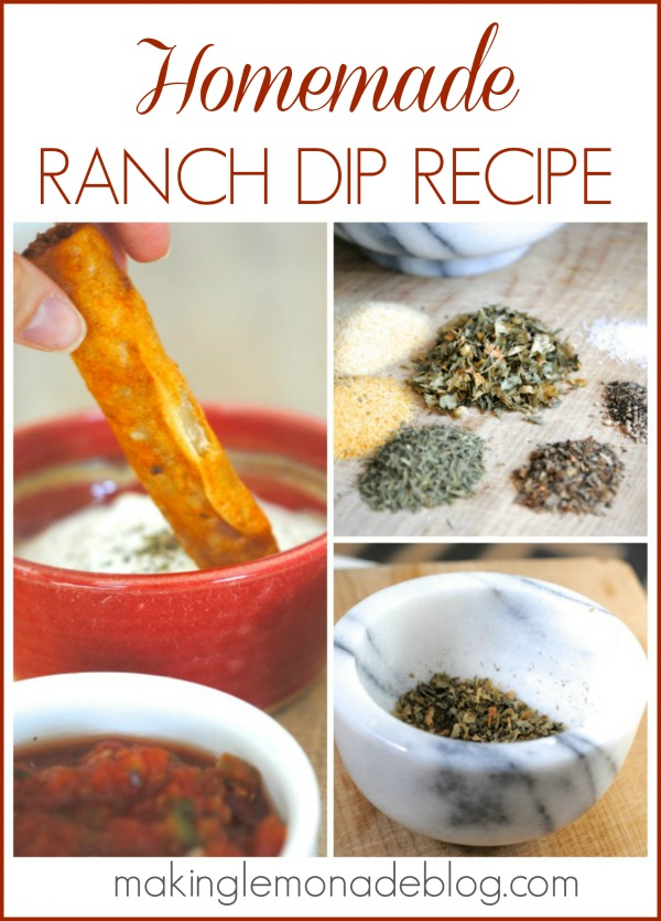Delicious Homemade Ranch Dip Recipe- make it in under 5 minutes, so fresh and easy! www.makinglemonadeblog.com
