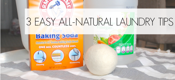 3 All Natural Laundry Tips! {Eco-Friendly Laundry}
